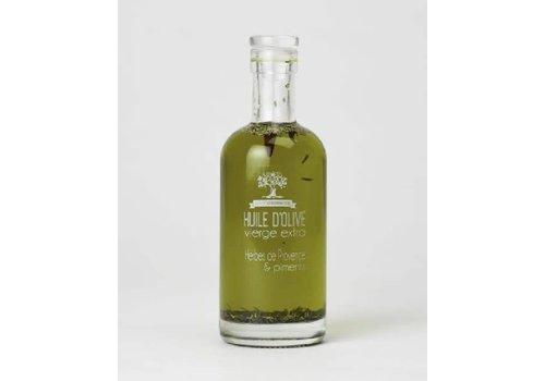 Côté Garrigue Huile d'olive aux piments et herbes de provence