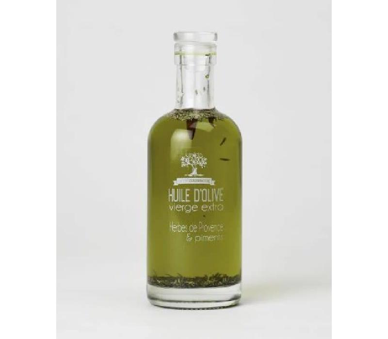 Huile d'olive aux piments et herbes de provence