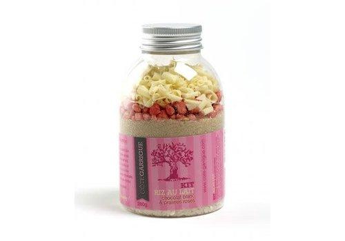 Côté Garrigue Kit riz au lait au chocolat blanc et pralines roses
