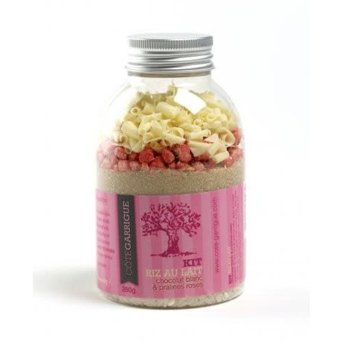 Kit rijstpap met witte chocolade en roosjes