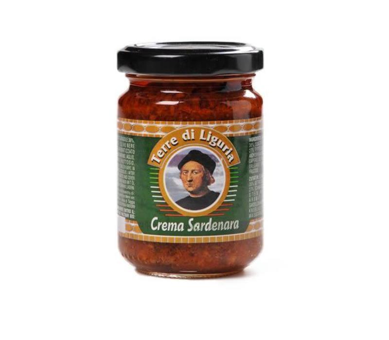 Tapenade Sardenara met ansjovis, tomaat en olijf