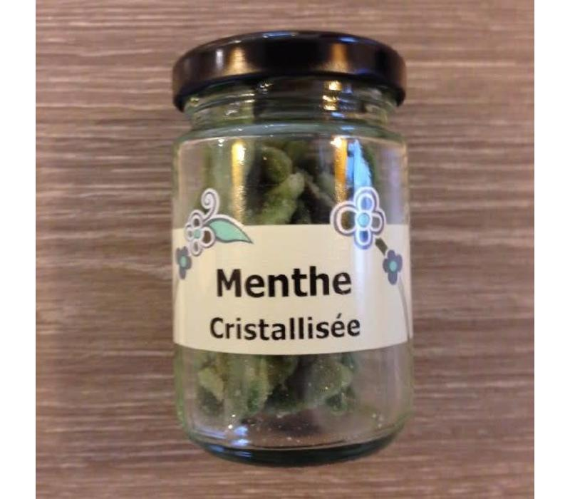 Muntblad gekristalliseerd
