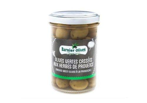 Barnier Olives Olives vertes Cassées aux herbes de Provence