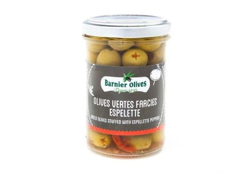 Barnier Olives Olives Vertes farcies espelette