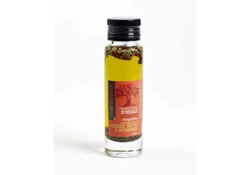 Côté Garrigue Huile d'olive piments & herbes aromatiques 10cl