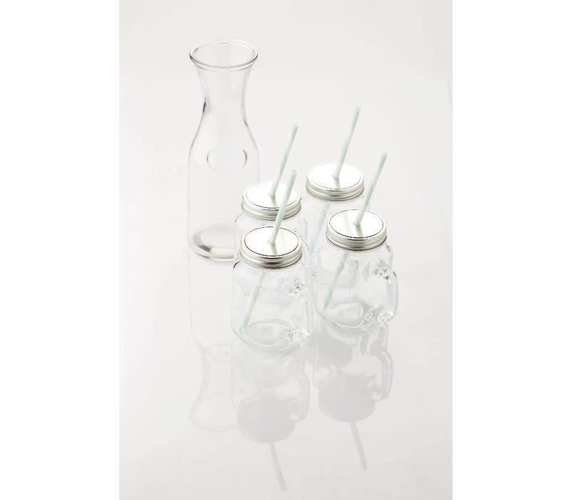Carafe et gobelets en verre