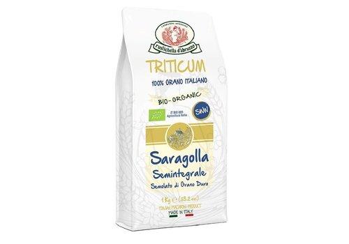 Rustichella d'Abruzzo Pastabloem Saragolla Half-Volkoren