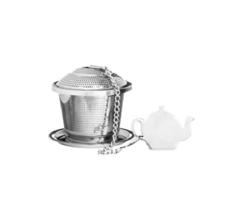 Infuseur à thé avec soucoupe