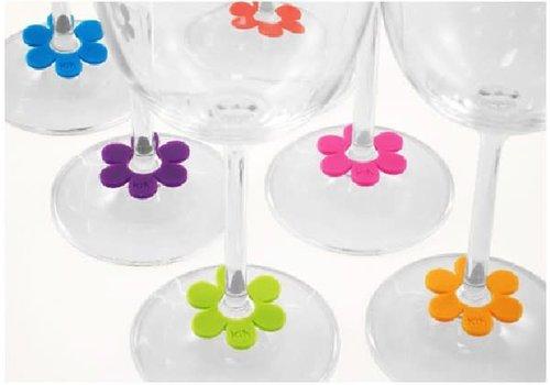 Marqueur de verre Fleur