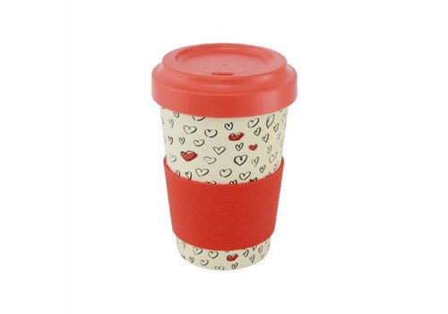 Point Virgule Travel Mug 'Hearts'