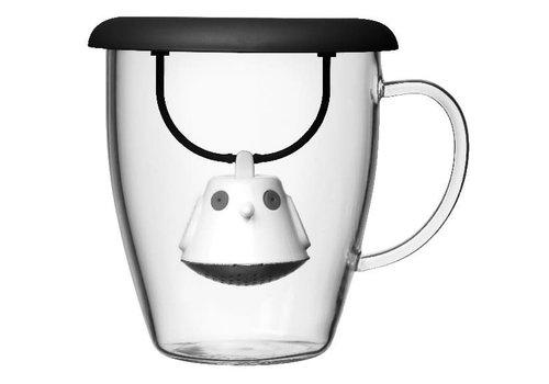 QDO Infuseur à thé & tasse Birdie Swing Noir