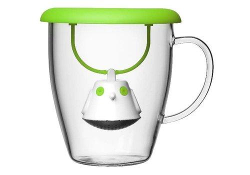 QDO Infuseur à thé & tasse Birdie Swing Vert