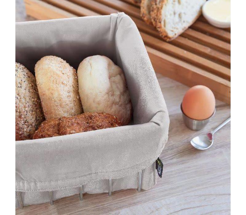 Broodmand in katoen, Walnoot bruin