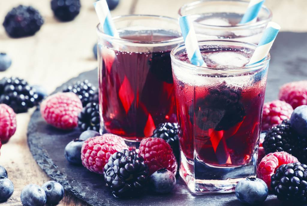 Ice Tea met rood fruit