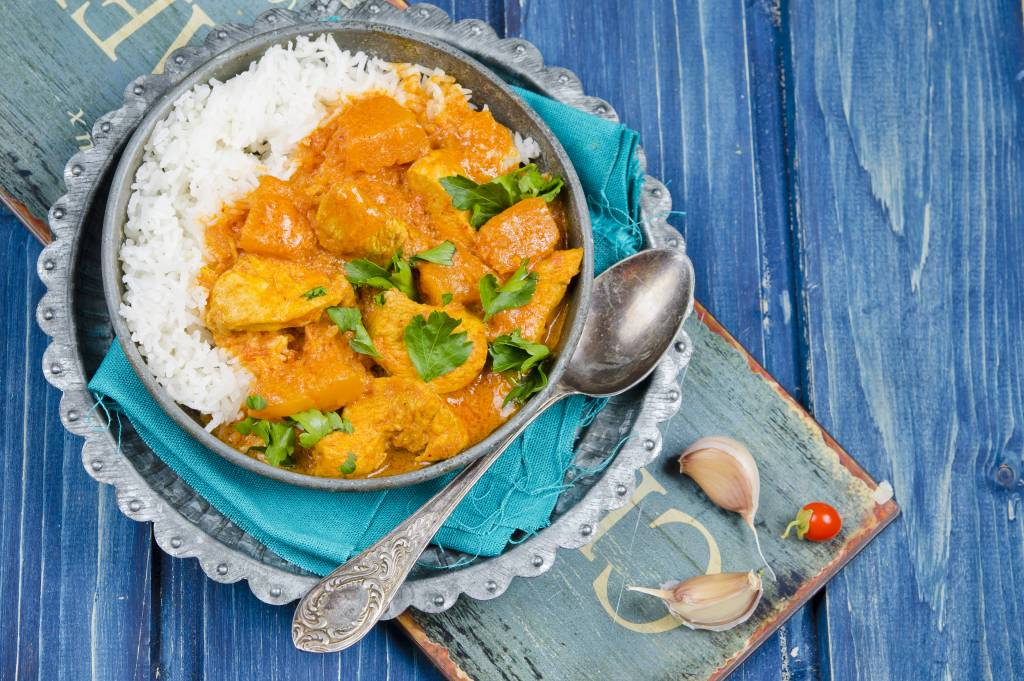 Curry met kip en pompoen
