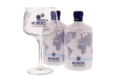 Nordes Gin dubbel Pack + 6 Glazen