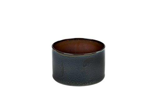 Anita Le Grelle gobelet cylindre bas d7.5 h5 bleu foncé / rouille