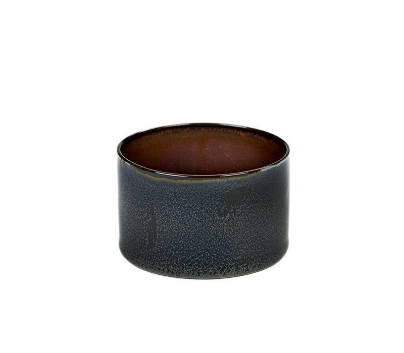 beker cylinder laag d7,5 h5 dark blue / rust - Anita Le Grelle