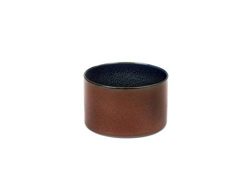 Anita Le Grelle beker cylinder laag d7,5 h5 rust/ dark blue