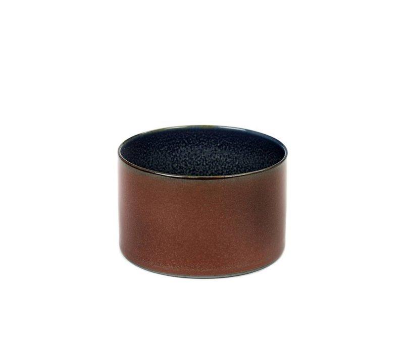 beker cylinder laag d7,5 h5 rust/ dark blue - Anita Le Grelle