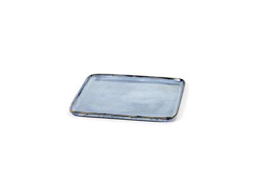 Anita Le Grelle bord vierkant s 17,5x17,5 h1 blauw