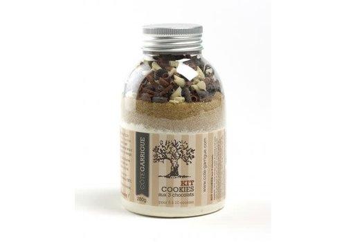 Côté Garrigue Kit Cookies met 3 soorten chocolade