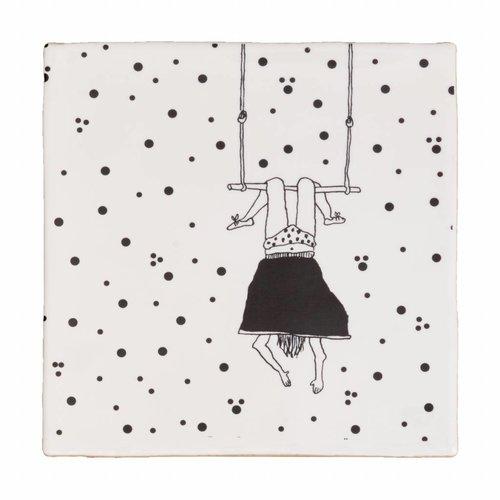 Onderzetter tegel trapeze girl