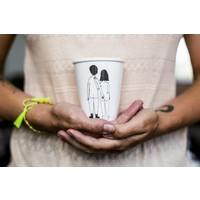 Tasse en porcelaine 'Naked couple back'