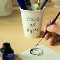 Tasse en porcelaine 'Focus on happy'