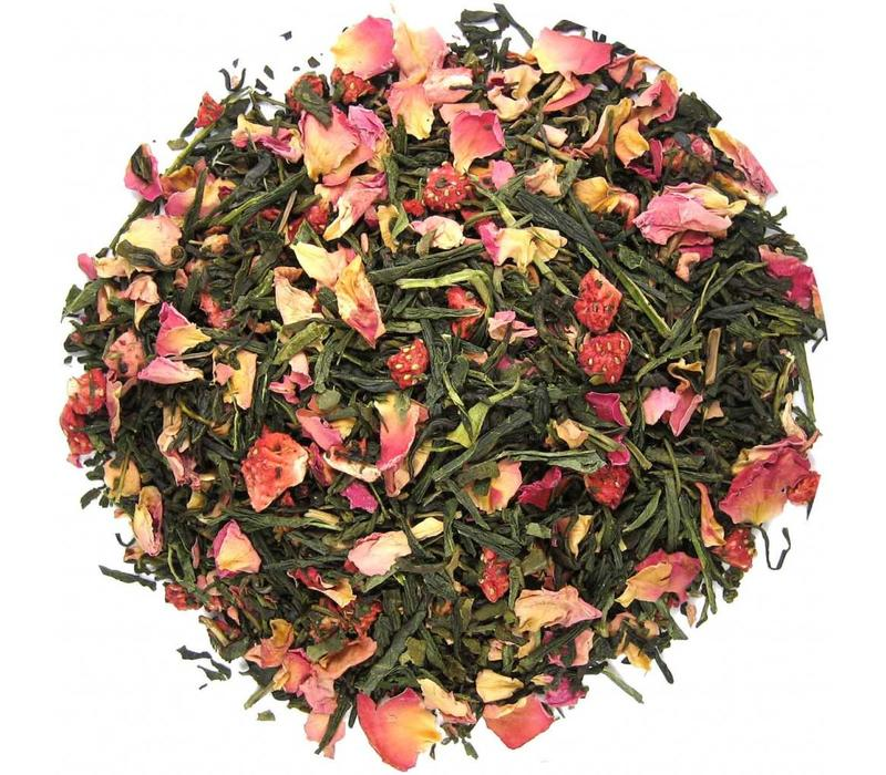 Groene thee Rose & Strawberry Nr 034 Pure Flavor thee 75 g