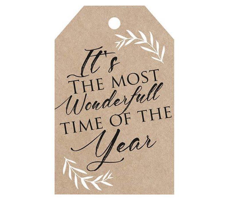 It's the most wonderfull time of the year Wenskaartje (voeg je persoonlijke boodschap toe)