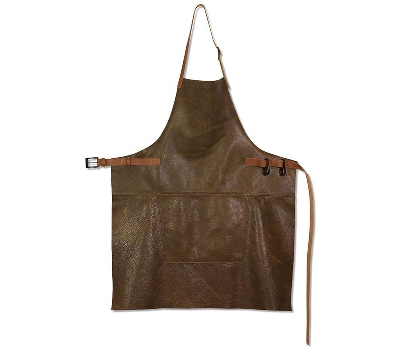 Barbecueschort Vintage Brown/Cognac