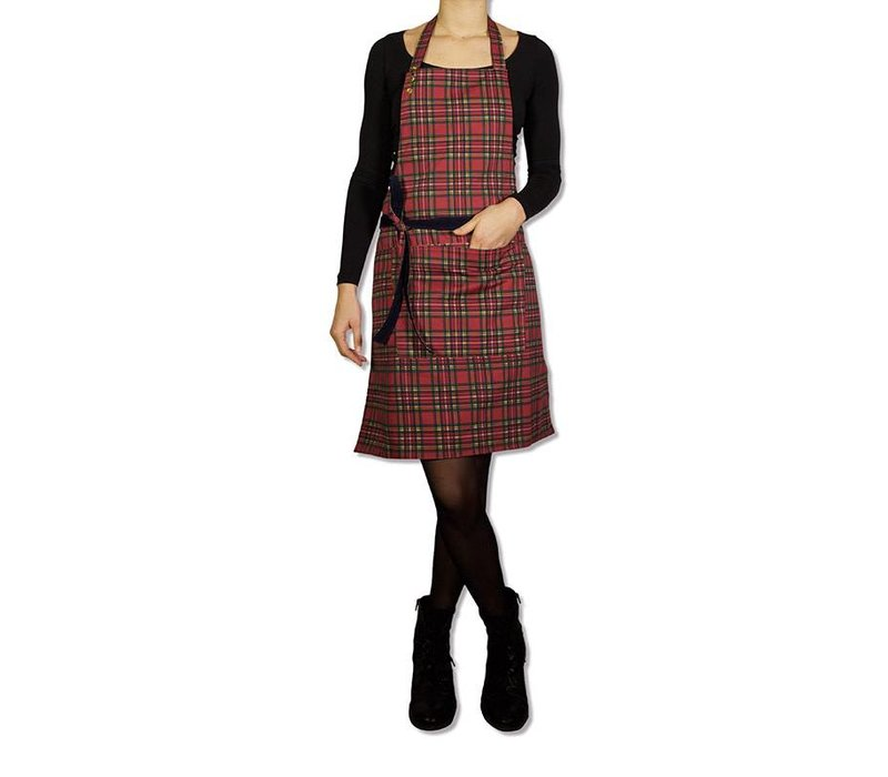 Tablier réversible Navy vs Checkered Red