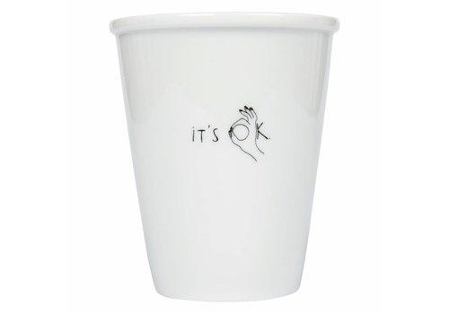 helen b Tasse en porcelaine 'it's ok'