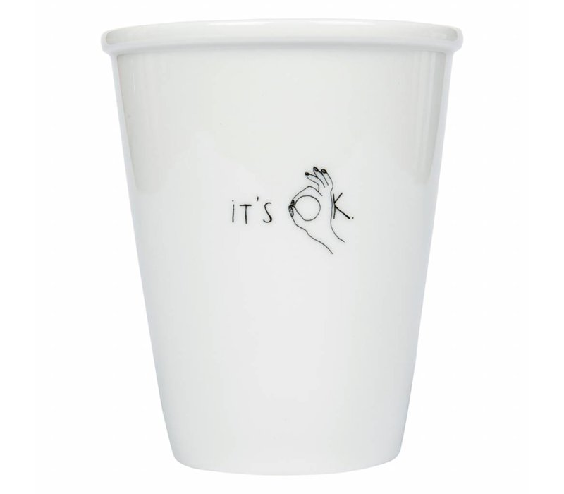 Tasse en porcelaine 'it's ok'