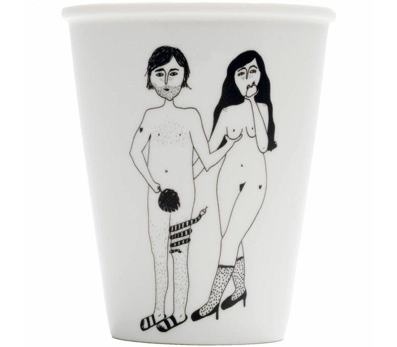 tasse en porcelaine adam & eva