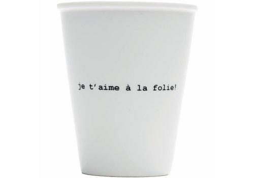 helen b Tasse en porcelaine 'je t'aime à la folie'