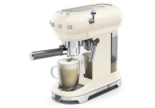 SMEG Espresso Machine Crème ECF01CREU