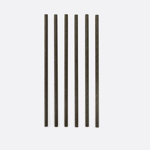 Papieren rietjes Zwart - 48 stuks