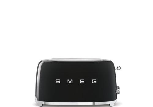 SMEG Grille-pain, 4 tranches, Noir TSF02BLEU