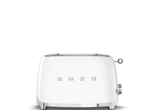 SMEG Grille-pain, 2 tranches, blanc TSF01WHEU
