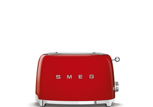 SMEG Grille-pain, 2 tranches, rouge TSF01RDEU