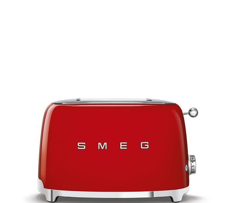 Broodrooster 2 sneden Rood SMEG TSF01RDEU
