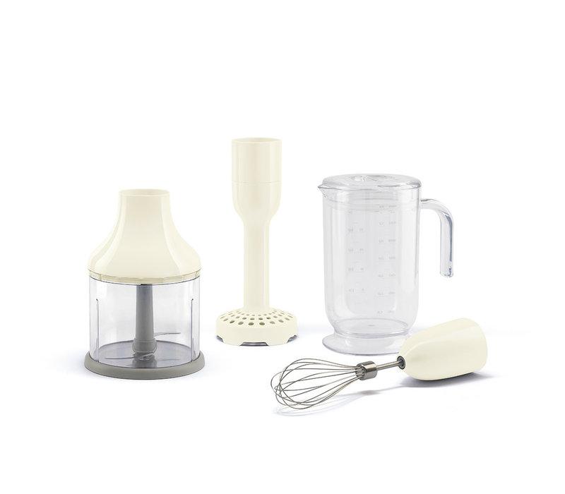 Mixeur plongeant + accessoires Cream SMEG HBF02CREU
