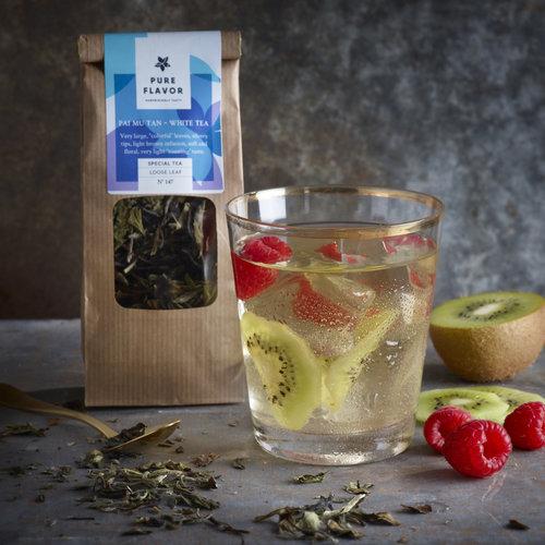 Recept om zelf ice tea te maken met witte thee Pai Mu Tan