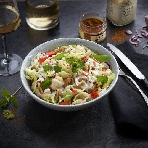 Recette salade de pâtes saveur pita