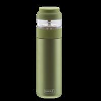 Bouteille de thé  en acier inoxydable avec infuseur séparé - Vert - Lurch