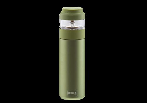 Lurch Theefles met aparte infuser uit RVS - Groen