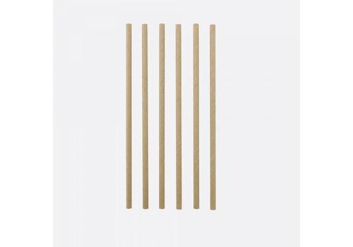 Point Virgule Papieren rietjes Kraft - 48 stuks