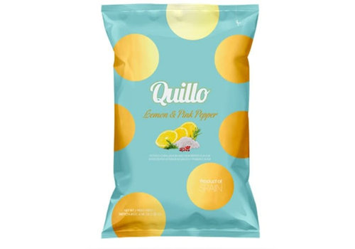Quillo Chips au Citron & Poivre Rose 130g